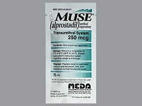 Muse 250 mcg intra-urethral suppository