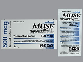 Muse 500 mcg intra-urethral suppository