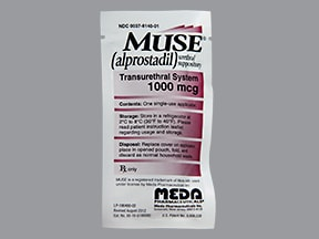Muse 1,000 mcg intra-urethral suppository