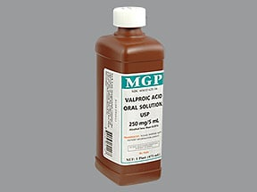 valproic acid (as sodium salt) 250 mg/5 mL oral solution