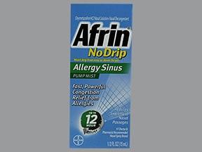 Afrin No Drip (oxymetazoline) 0.05 % nasal mist