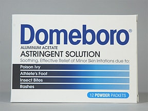 Domeboro 952 mg-1,347 mg topical powder in packet