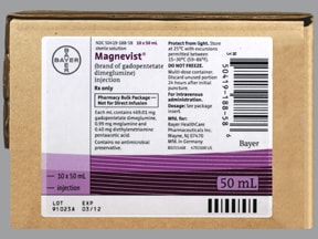 Magnevist 469.01 mg/mL (46.9 %) intravenous solution