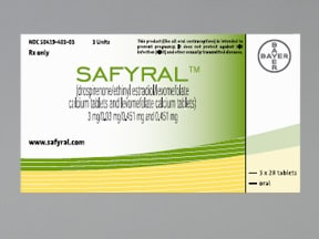 Safyral 3 mg-0.03 mg-0.451 mg (21)/0.451 mg (7) tablet