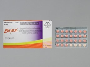 Beyaz (28) 3 mg-0.02 mg-0.451 mg (24)/0.451 mg (4) tablet