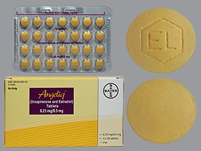 Angeliq 0.25 mg-0.5 mg tablet