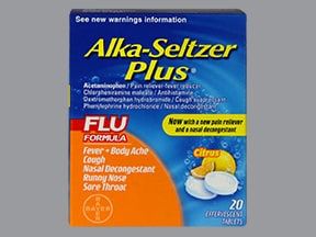 Alka-Seltzer Plus Flu 2 mg-5 mg-10 mg-250 mg effervescent tablet