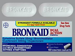 Bronkaid Dual Action 25 mg-400 mg tablet