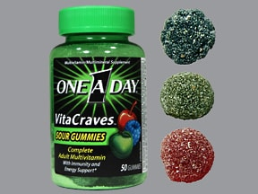 One-A-Day VitaCraves 200 mcg chewable tablet