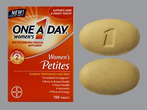 One-A-Day Women's Petites 9 mg iron-200 mcg tablet
