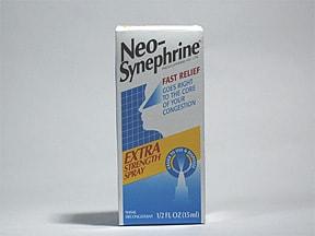 Neo-Synephrine (phenylephrine) 1 % nasal spray