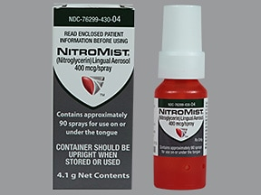 Nitromist 400 mcg/spray translingual aerosol