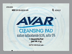 Avar 9.5 %-5 % topical pads