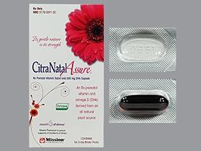 CitraNatal Assure 35 mg iron-1 mg-50 mg-300 mg oral pack