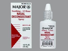 Nasal Decongestant (oxymetazoline) 0.05 % spray