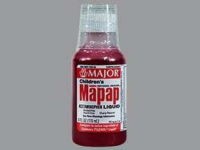 Mapap (acetaminophen) 160 mg/5 mL oral liquid