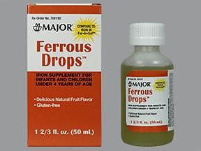 ferrous sulfate 15 mg iron (75 mg)/mL oral drops