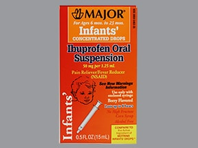 Infant's Ibuprofen 50 mg/1.25 mL oral drops,suspension
