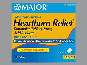 Heartburn Relief (famotidine) 20 mg tablet