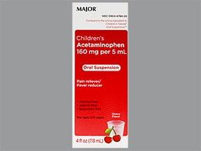 Children's Acetaminophen 160 mg/5 mL oral suspension
