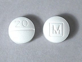 methylphenidate 20 mg tablet