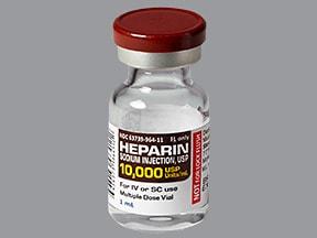 heparin (porcine) 10,000 unit/mL injection solution