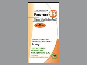 Proventil HFA 90 mcg/actuation aerosol inhaler