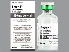 Emend (fosaprepitant) 150 mg intravenous solution