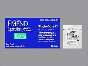 Emend 125 mg (25 mg/mL final conc.) oral suspension