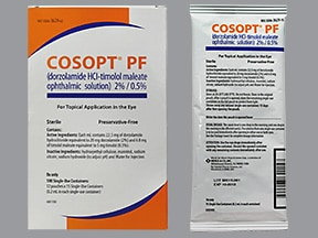 Cosopt (PF) Ophthalmic (Eye) : Uses, Side Effects