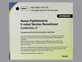 Gardasil 9 (PF) 0.5 mL intramuscular syringe
