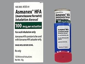 Asmanex HFA 100 mcg/actuation aerosol inhaler