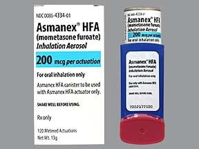Asmanex HFA 200 mcg/actuation aerosol inhaler