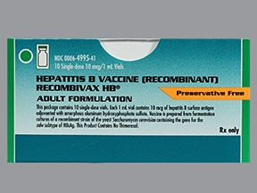 Recombivax HB (PF) 10 mcg/mL intramuscular suspension