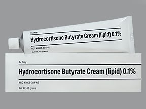 hydrocortisone butyrate-emollient 0.1 % topical cream