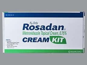 Rosadan 0.75 % top,cleanser and cream kit