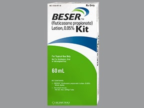 Beser Kit 0.05 % kit,top lotion and cream,emollient