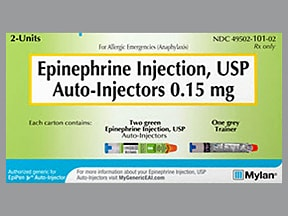 epinephrine (Jr) 0.15 mg/0.3 mL injection,auto-injector