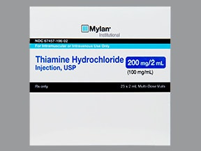 Thiamine Hcl (Vitamin B1) Injection : Uses, Side Effects