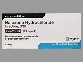 naloxone 0.4 mg/mL injection solution