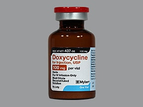 doxycycline hyclate 100 mg intravenous powder for solution