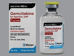 gemcitabine 1 gram intravenous solution