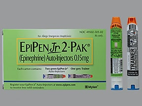 EpiPen Jr 2-Pak 0.15 mg/0.3 mL injection,auto-injector