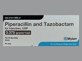 piperacillin-tazobactam 3.375 gram intravenous solution