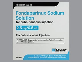 fondaparinux 2.5 mg/0.5 mL subcutaneous solution syringe