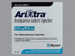 Arixtra 2.5 mg/0.5 mL subcutaneous solution syringe