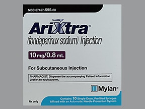 Arixtra 10 mg/0.8 mL subcutaneous solution syringe