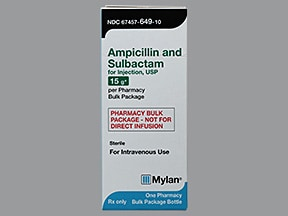 ampicillin-sulbactam 15 gram solution for injection