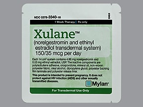 Xulane 150 mcg-35 mcg/24 hr transdermal patch