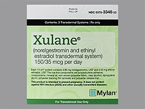 Xulane 150 mcg-35 mcg/24 hr transdermal patch